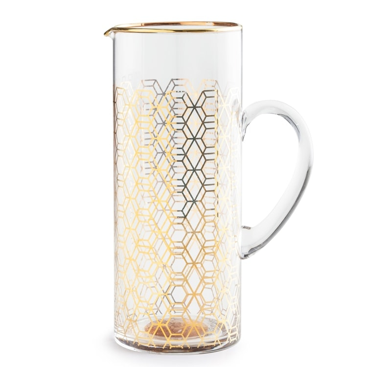 Geometric Gold Party Pitcher from Manor http://www.shopthemanor.com/products/geometric-gold-party-pitcher