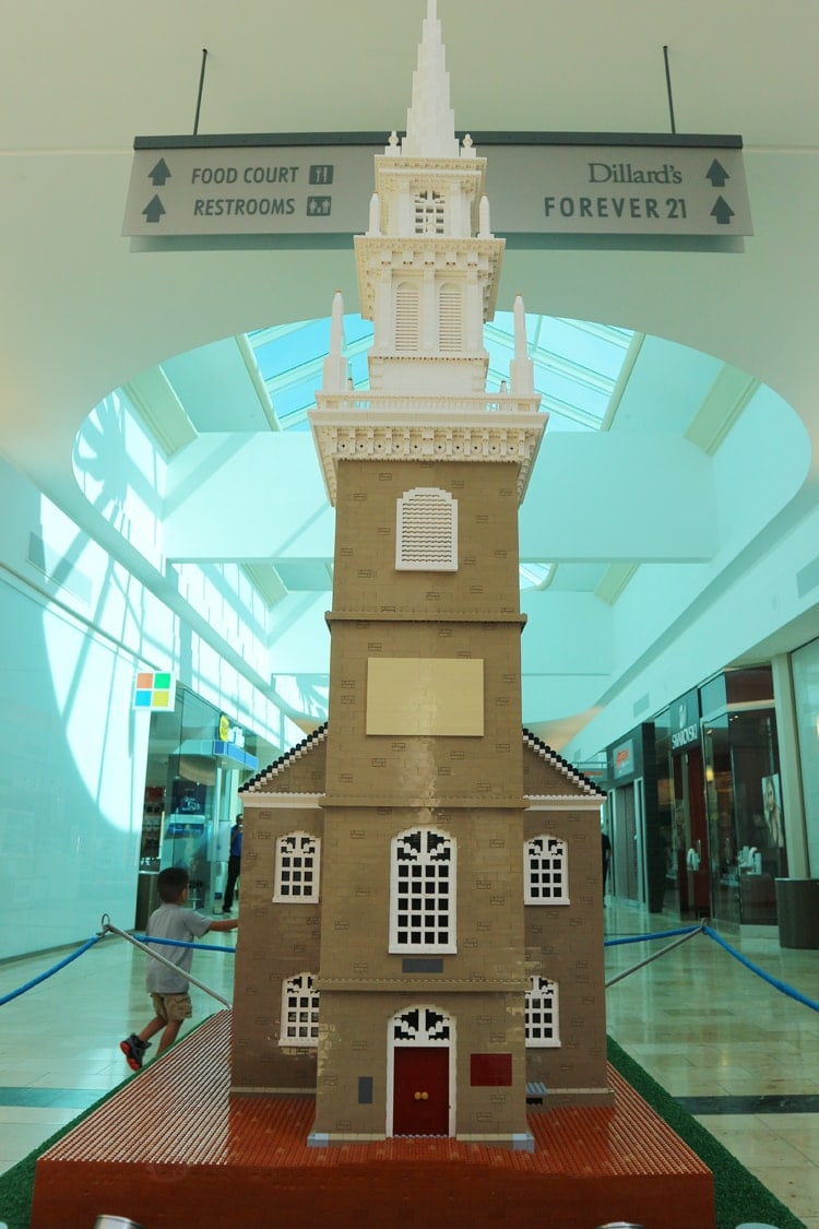 LEGO Americana Roadshow Baybrook Mall Old North Church