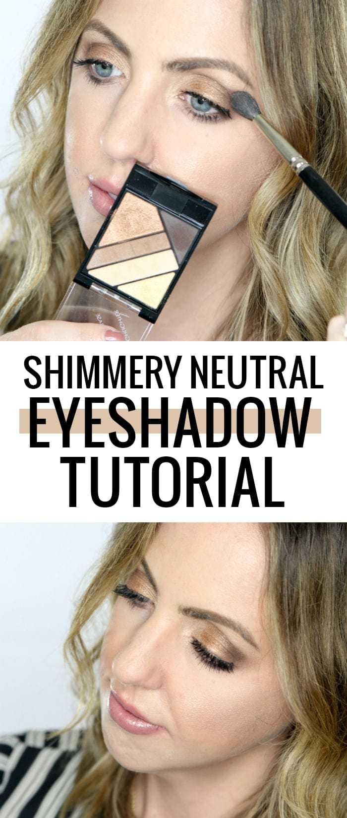 Easy shimmery neutral eyeshadow tutorial using all AFFORDABLE makeup products!!