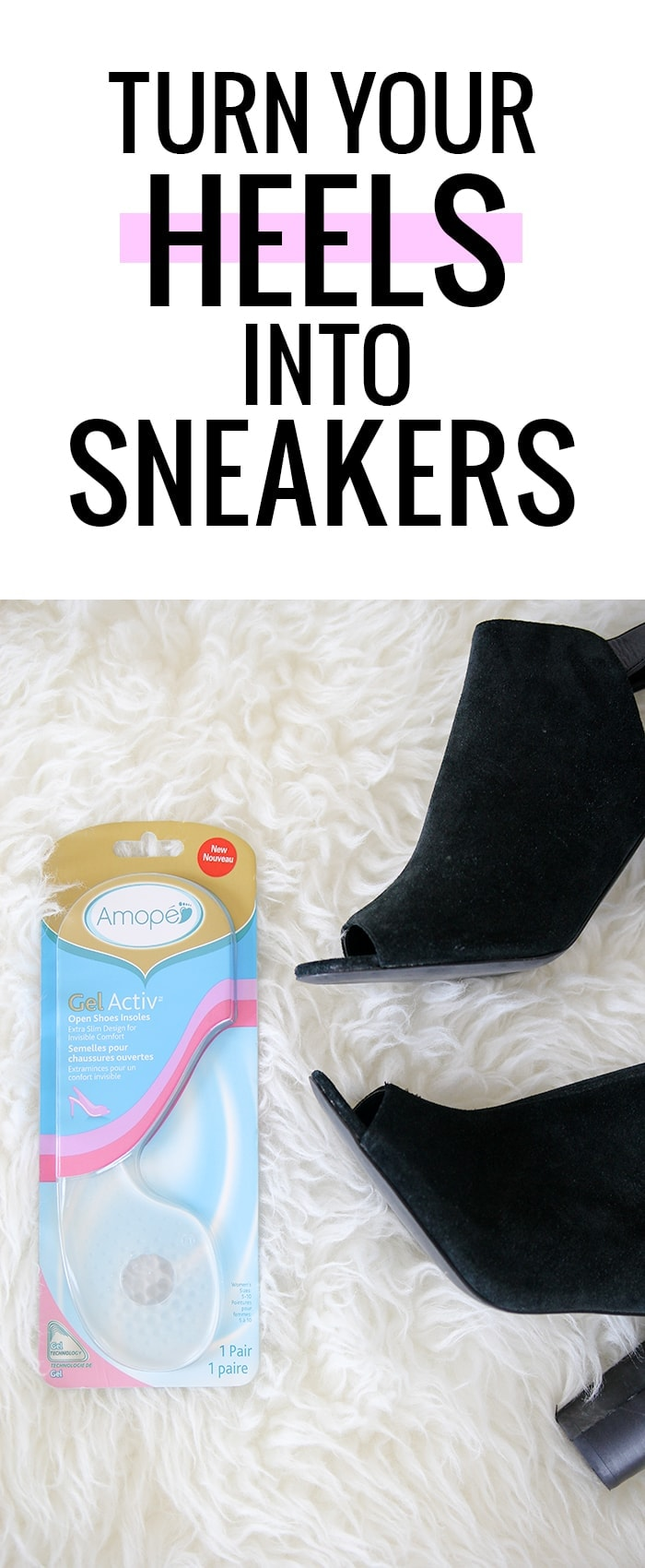 Turn your heels into sneakers with Ampoe Gel Activ inserts!