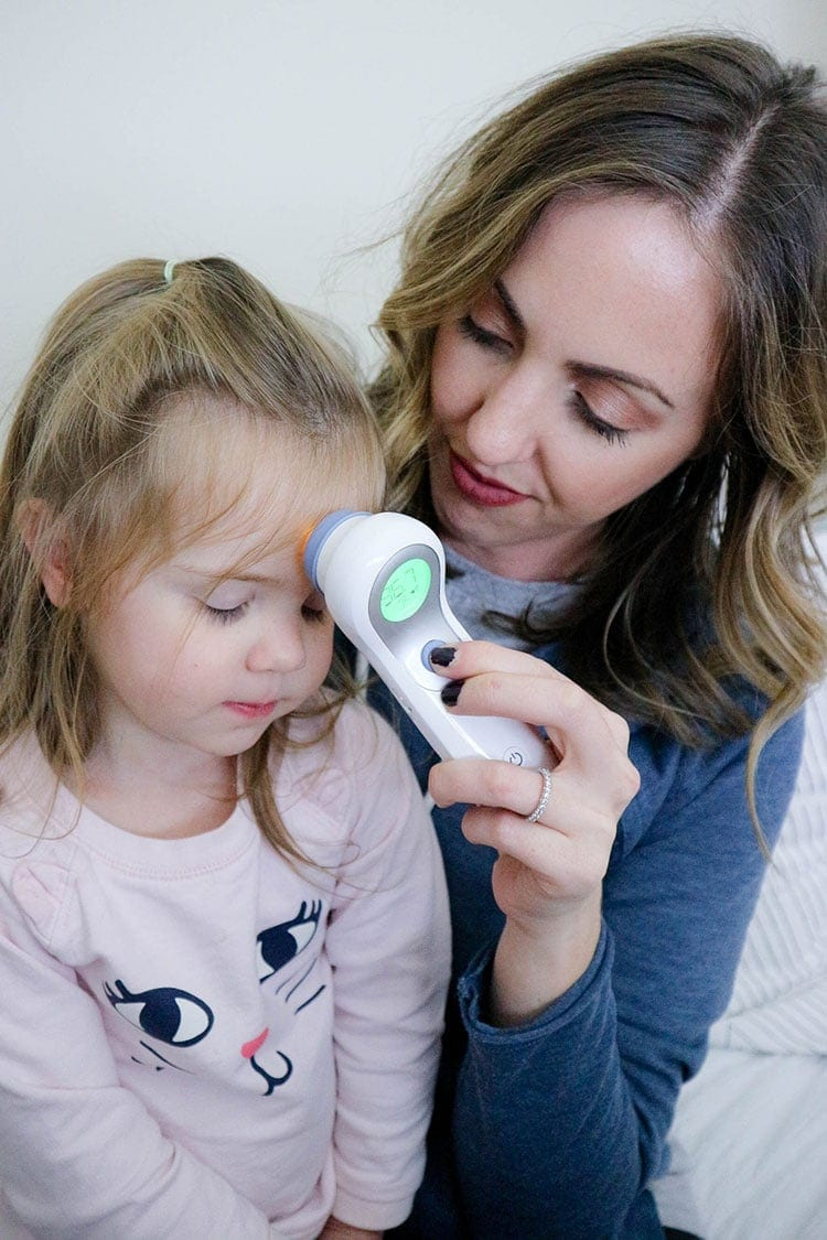 preparing for flu season using the Braun No Touch thermometer