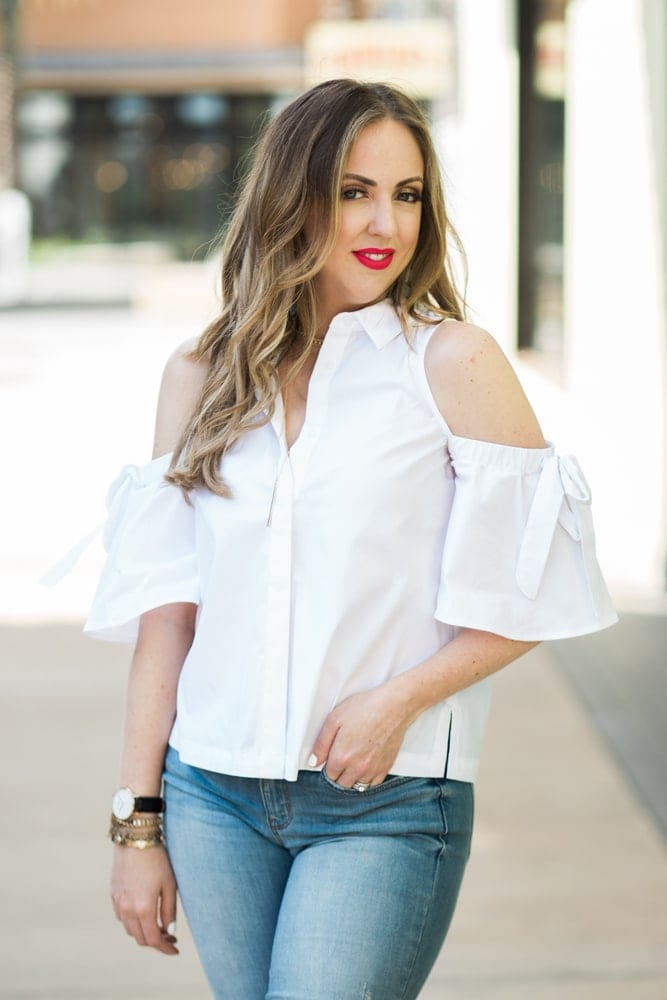spring fashion trend - cold shoulder tops