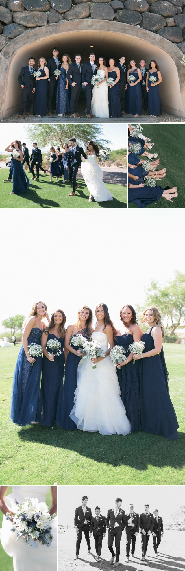 Navy Bridesmaid Dresses Bridal Party Revere Golf Course Royal Blue Bridal Party by Meg Ruth Photo