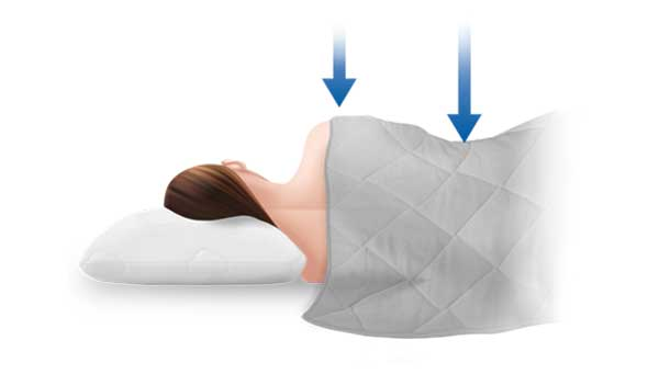 Puffy Weighted Blanket gives you gentle pressure stimulation