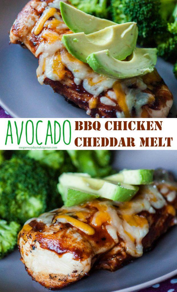 Avocado BBQ Chicken Cheddar Melt