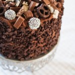 Chocolate Overload Layer Cake is the perfect way to celebrate a birthday or any day. Chocolate cake, chocolate frosting and mounds of chocolate candy.