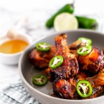 These Slow Cooker Honey Jalapeno Chicken Drumsticks are perfect for busy weeknights. Just a few ingredients tossed into the slow cooker & dinner is served.