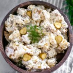 If you're a pickle lover, you need to try this Pickle Potato Salad ASAP. Tender potatoes, crunchy pickles and a creamy dill sauce.