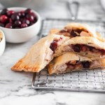 Repurpose your delicious Thanksgiving leftovers and make these Thanksgiving Leftovers Hot Pockets. I've teamed up with the National Turkey Federation to bring you a turkey-licious recipe that you'll love this fall and all year long. Mashed potatoes, stuffing, cranberry sauce and turkey cooked in flaky pie dough to golden perfection.