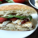 Grilled chicken, fresh mozzarella, tomato panini