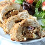 Gorgonzola Cheese, Dried Cranberry, and Sage Stuffed Chicken Breasts