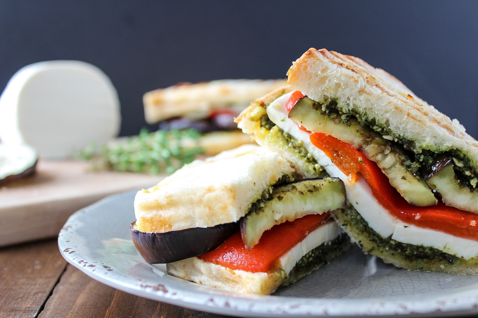 Easy and healthy veggie panini megs meal planning every now and then i find a vegetarian recipe that i just love this panini was exactly that the warm crunchy bread and melted mozzarella cheese tasted sisterspd