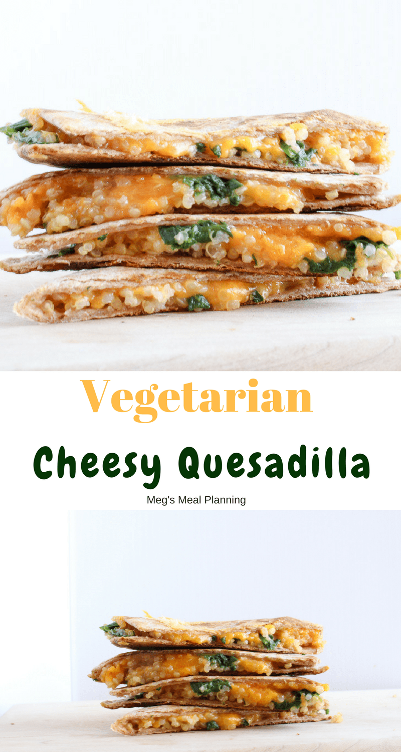Vegetarian Cheesy Quesadilla