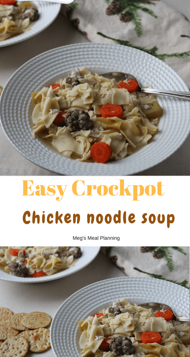 Easy Crockpot Chicken noddle soup