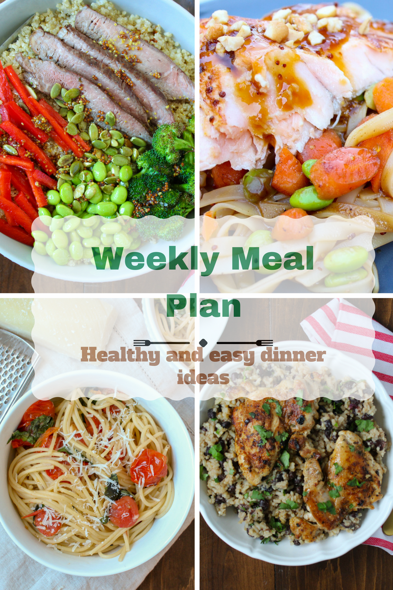Meal plan for week of March 26th