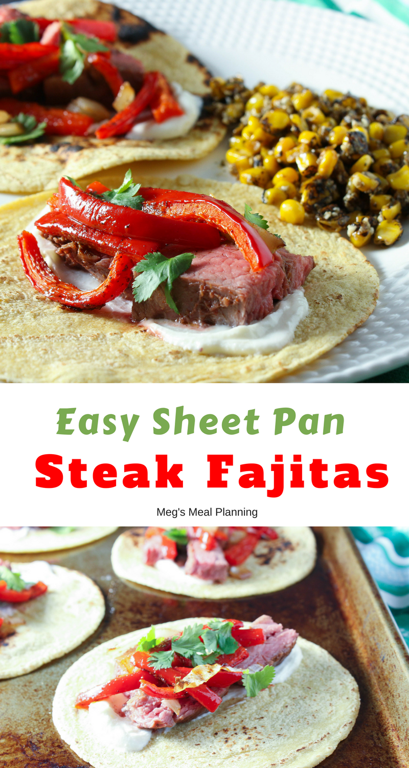 Easy sheet pan steak fajitas