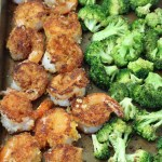Crispy Panko Crusted Shrimp with Roasted Broccoli