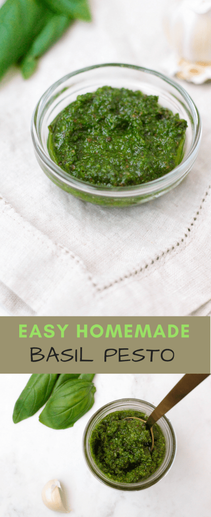 Easy homemade basil pesto