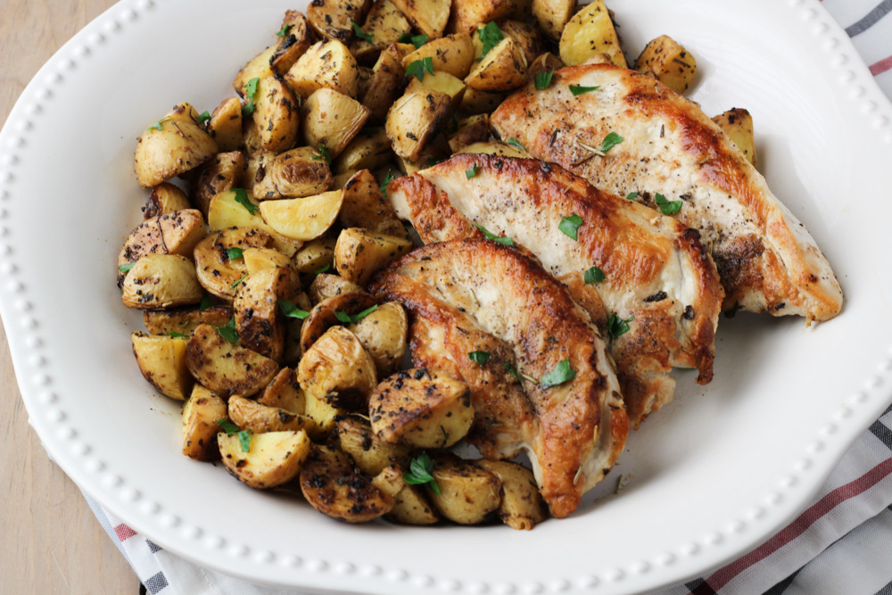 chicken and potatoes dinner