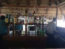 well-stocked bars on the beach