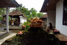 Entrance to a traditional Balinese family home.