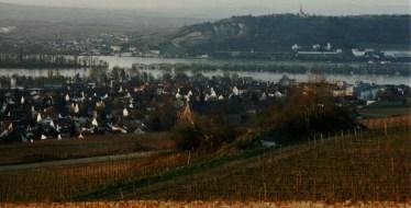 Looking toward Ruedesheim from the Abbey of St. Hildegard of Bingen.