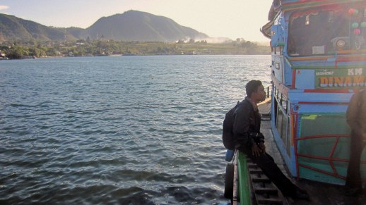 Lake Toba at Balige's harbor