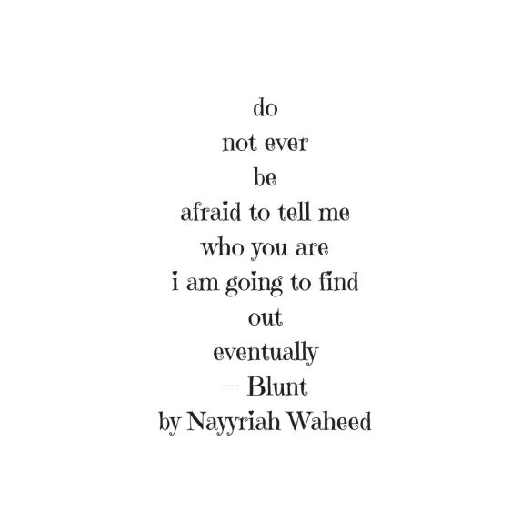 Blunt Nayyriah Waheed