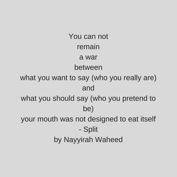 Split Nayyirah Waheed