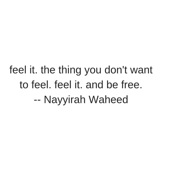 feel it Nayyirah Waheed