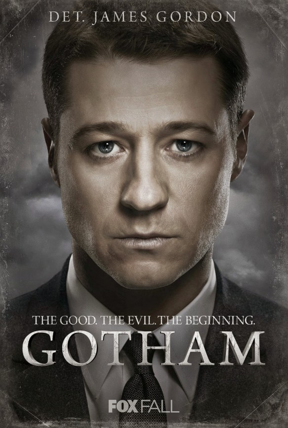 "Gotham ""The Good. The Evil. The Beginning."" Character TV Poster Set - Ben McKenzie as James Gordon"