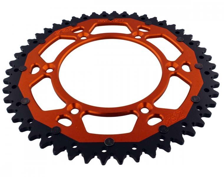 Corona de una moto KTM