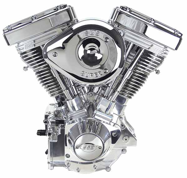 """Motor de una motocicleta tipo """"Harley Davidson"""""""