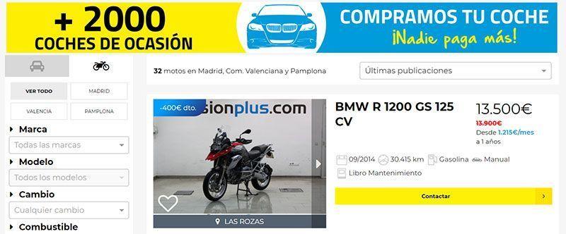 Motocasión, Web para comprar motos de segunda mano