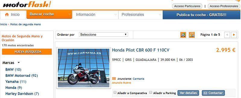 Motor Flash, motocicletas de segunda mano baratas