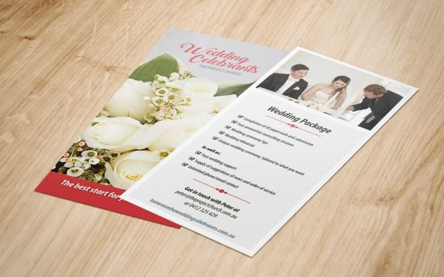 Flyer for Toowoomba Wedding Celebrants