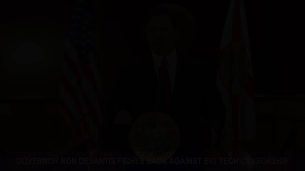 JUST IN - Flordia's Gov. DeSantis: We are witnessing an Orwellian big tech corporate media collusion.