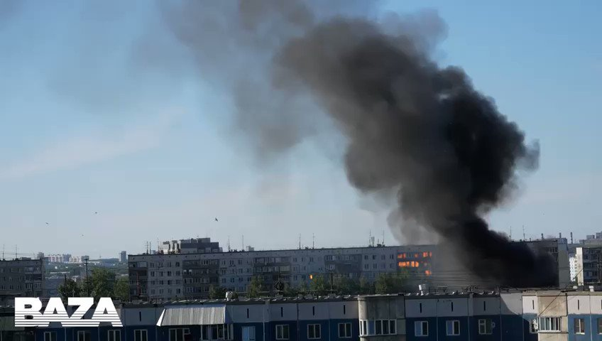 JUST IN - Explosion at a gas station in Novosibirsk, Russia.