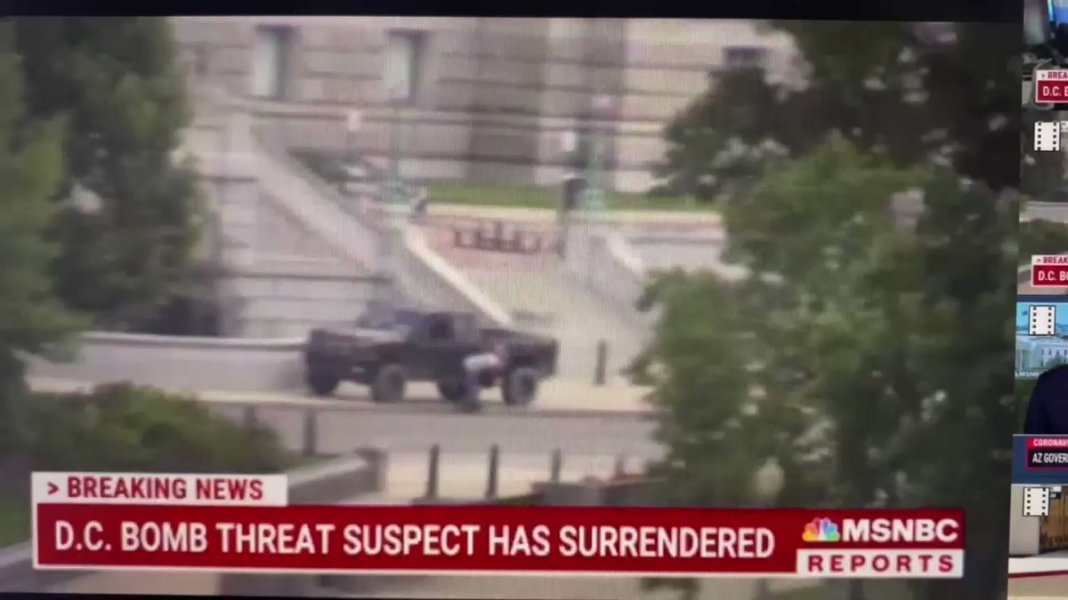 JUST IN - Suspect who made a bomb threat near the U.S. Capitol got out of his vehicle and surrendered to law enforcement.