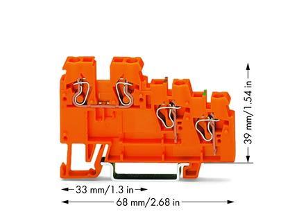 WAGO Senzorska klema - za 3-provodnika - sa obojenim ulazima - 2.5 mm2 - 270-568