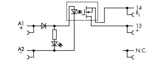 WAGO Priključni solid-state rele sa postoljem - ulaz: 24 VDC, Izlaz 0 ... 24 VDC / 2 A - 857-724