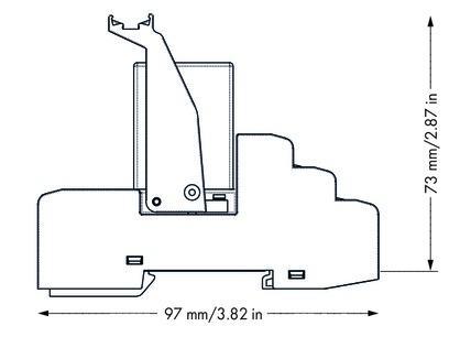 WAGO Postolje relea sa priključnim industrijskim releom - 230 VAC - 4 preklopna kontakta - 858-508