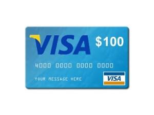 $100 giveaway  Visa