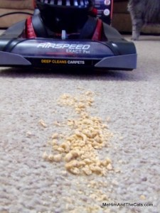 Eureka Air Speed Exact Pet  Vacuum, Crushed Cereal Test