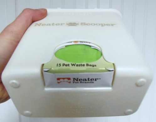 Neater Scooper has a slot to store the Pet Waste Bags