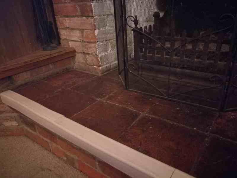 Fireplace guard edge