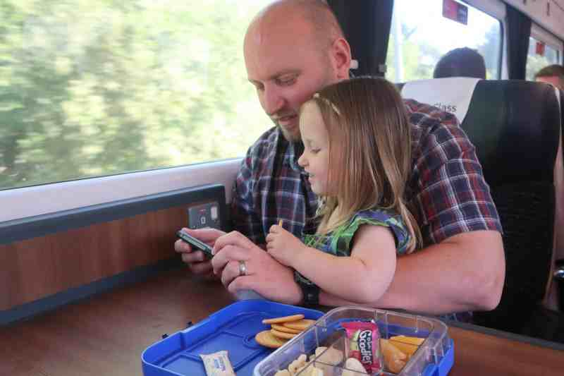 John and Erin on train