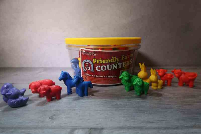 Learning Resources Friendly Farm Animal Counters