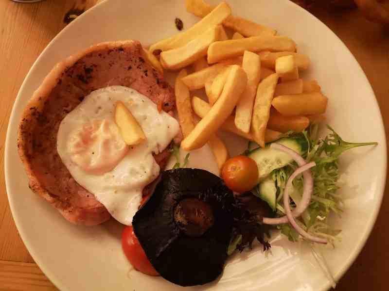 Gammon at The White Horse, Crostwick