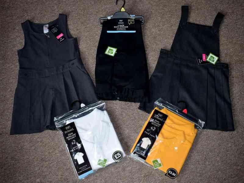 flatlay of school uniform